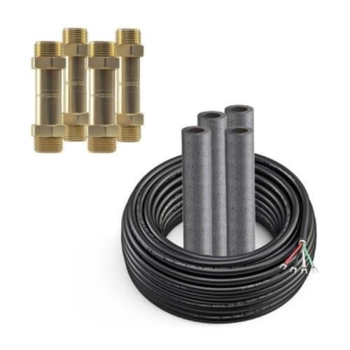0.25-in x 0.5-in Coupler Kit w/ 75-ft Wire, 9K/12K/18K Line Set