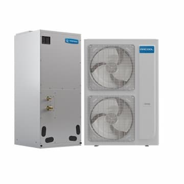 48K-60K BTU/H Central Heat Pump System, 2000 Sq Ft, 1 Ph, 45 Amp, 208V/230V