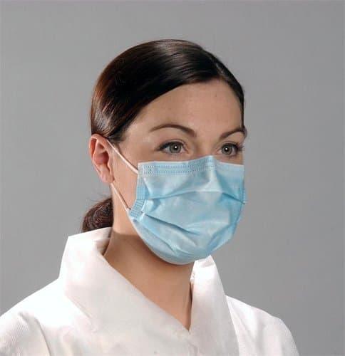 Medline Industries Cellulose Standard Procedure Face Mask, 50 Pack