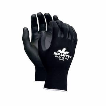 Memphis Glove 13-Gauge Large Black Polyurethane Coated Gloves