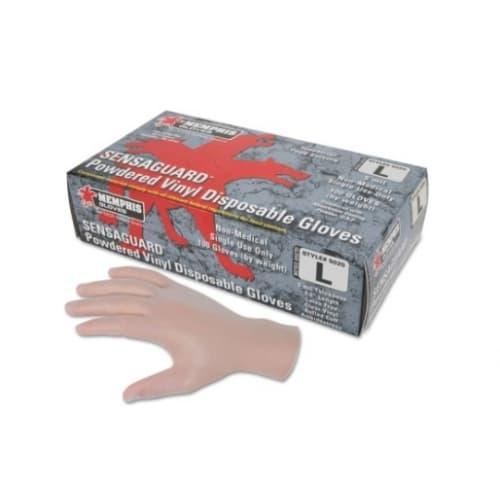 Memphis Glove Large 5 Mil Disposable Vinyl/Latex Gloves