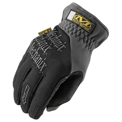 Mechanix Wear Large Black Spandex/Synthetic Leather FastFit Gloves