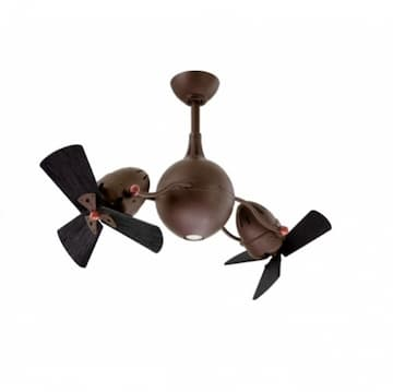 39-in 101W Acqua Rotational Fan w/ LED Light Kit, AC, 3-Speed, 6-Black Blades, Bronze