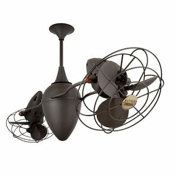 46-in 103W Ar Ruthiane Ceiling Fan, AC, 3-Speed, 6-Metal Blades, Bronzette