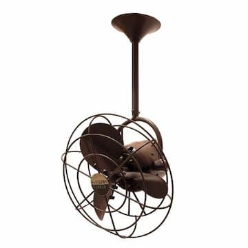 13-in 49W Bianca Direcional Ceiling Fan, AC, 3-Speed, 3-Metal Blades, Bronzette