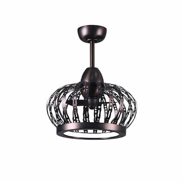 20-in 32W Dana Ceiling Fan w/ LED Light Kit, AC, 3-Speed, Brushed Bronze