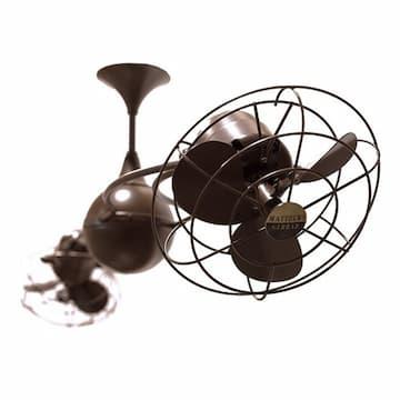 60-in 94W Italo Ventania Ceiling Fan, AC, 3-Speed, 6-Metal Blades, Bronzette
