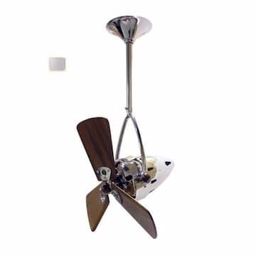 16-in 46W Jarold Direcional Ceiling Fan, AC, 3-Speed, 3-Wood Blades, Brushed Nickel