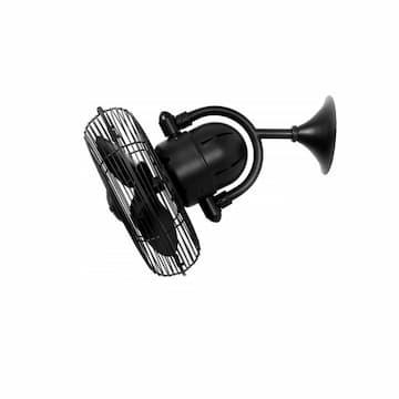 Matthews Fan 13-in 47W Kaye Oscillating Ceiling Fan, AC, 3-Speed, Black