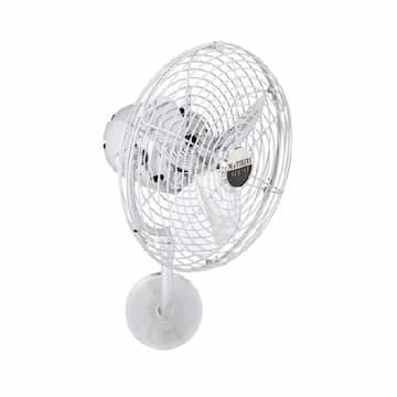 13-in 49W Michelle Parede Wall Fan, AC, 3-Speed, 3-Metal Blades, Damp, Polished Chrome