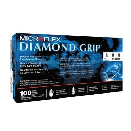 MICROFLEX Examination Gloves w/ Diamond Grip, Medium