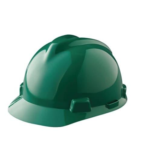 Standard V-Gard Hard Hat, Sizes 6.5-8, Green