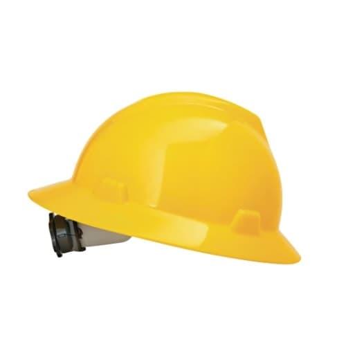 Standard V-Gard Hard Hat, Sizes 6.5-8, Yellow