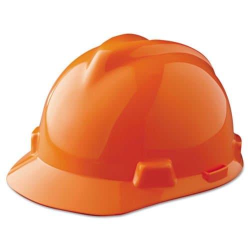 MSA Hi-Viz Orange Standard V-Gard Protective Cap