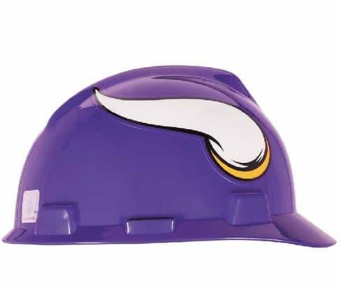 MSA Minnesota Viking Officially-Licensed NFL V-Gard Helmets