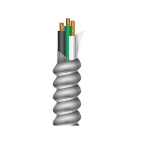 250-ft Copper Conductor Cable Coil, 122 lb Max Capacity, Black, White, and Green