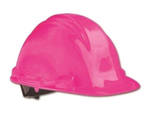 North Safety  Hot Pink 4 Point HDPE Peak Hard Hat