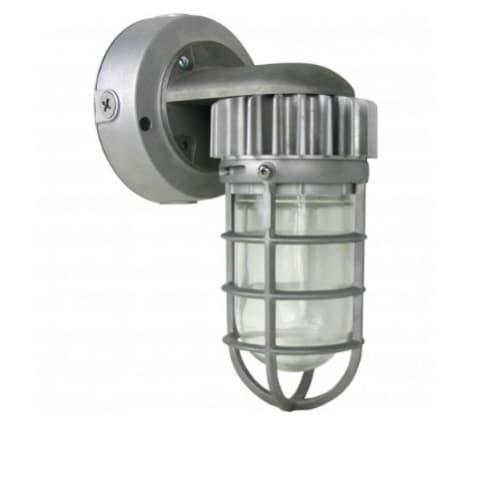 Nuvo 13W LED Wall Mount Light, Vapor Proof, Silver, 5000K