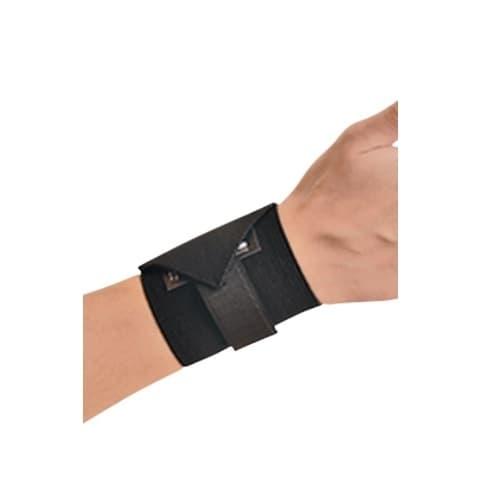 Wrist Aid w/ Hook & Loop Closure, Black