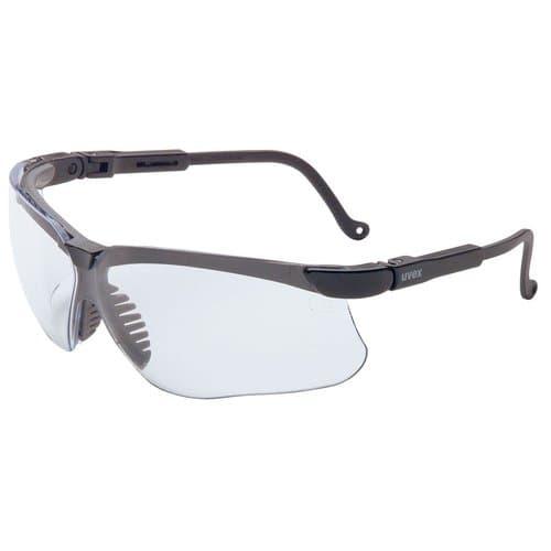 Uvex Black Frame Clear Lens Genesis Eyewear