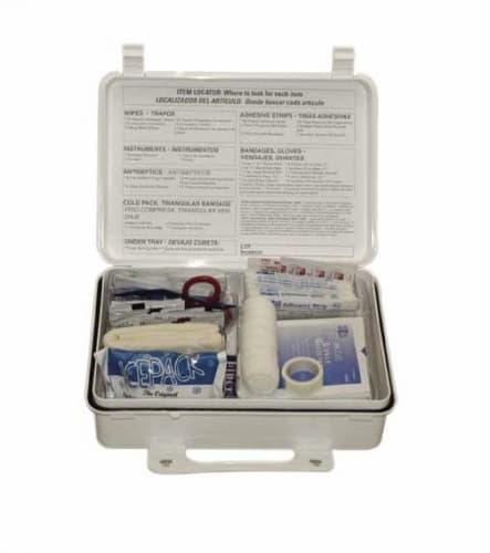 25-Person ANSI First Aid Kit, Weatherproof, Mountable