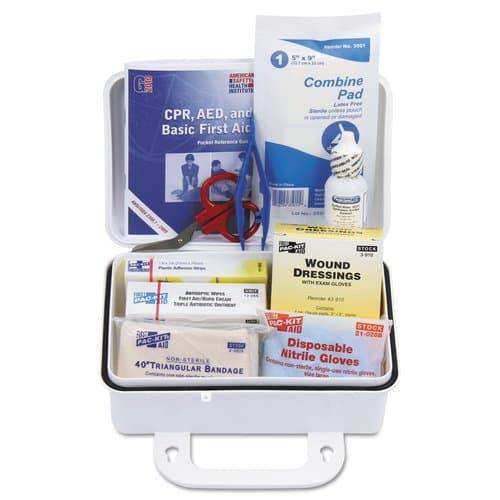 Pac-Kit 10 Person Plastic Ansi Plus First Aid Kit with Eyewash
