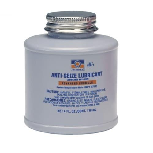 4oz Anti-Seize Lubricants, Brush Top Bottle, Silver