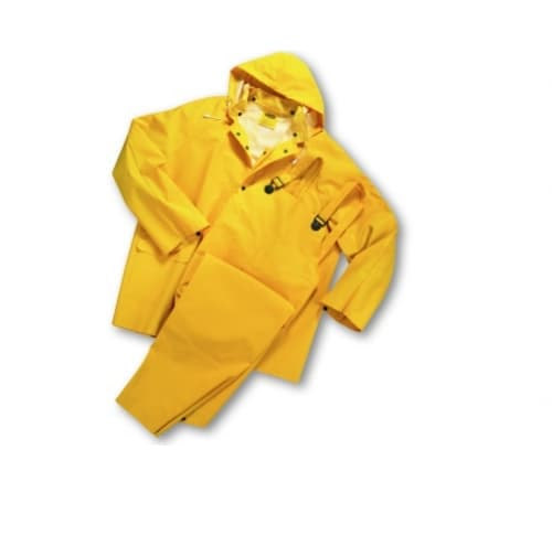 PIP 3 Piece Polyester Rainsuit, Size XXXXL, Yellow