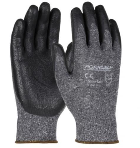 Nylon Gloves w/ Nitrile Coated Palm & Fingers, Medium