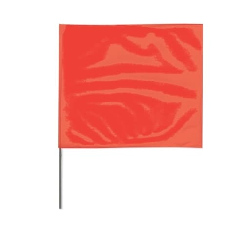 Presco 2-in X 3-in X 18-in Wire Stake Marking Flags, Red Glo