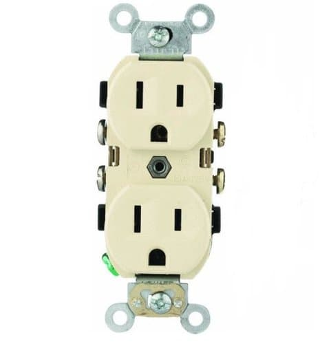 PowerSafe 15A tamper resistant (TR) Almond Self Grounded Receptacle
