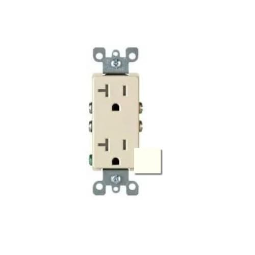 HomElectrical 20 Amp Decora Duplex Receptacle Outlet, Ivory