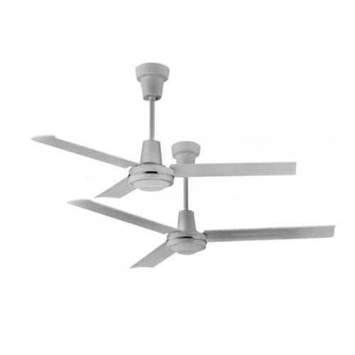 48-in 45W Commercial Ceiling Fan, 3861 CFM, 120V, White
