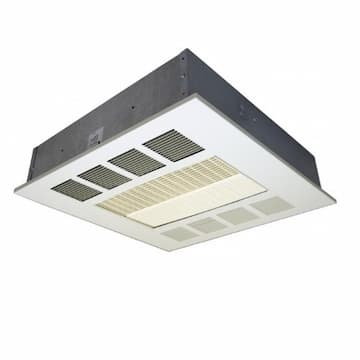Qmark Heater 2kW-4kW Downflow Ceiling Heater, Recessed, 300 CFM, 1-3 Ph, 208V