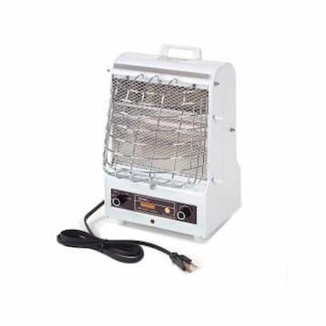 Qmark Heater 120V 1500/900/600W Portable Fan Forced/Radiant Utility Heater