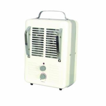 1300/1500W Fan-Forced Utility Heater, 12.5A, 120V, White