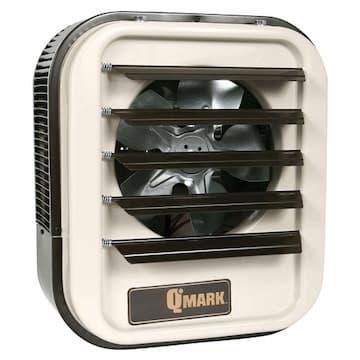 Qmark Heater 7.5KW 208V Garage Unit Heater 3-Phase Almond