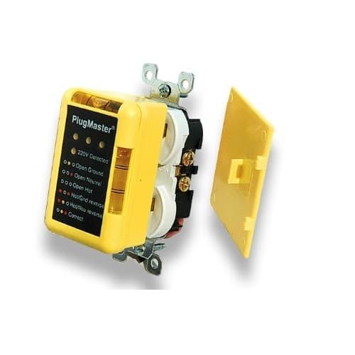 200V Plug Master Dual-Outlet Circuit Tester