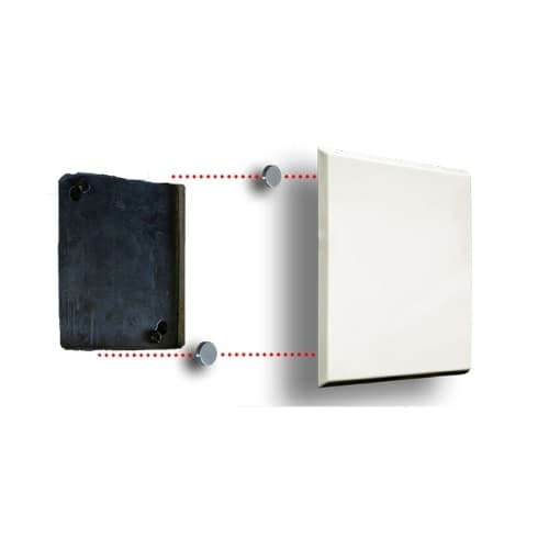 6.5-In Square Plate Hole Cover for Drywall