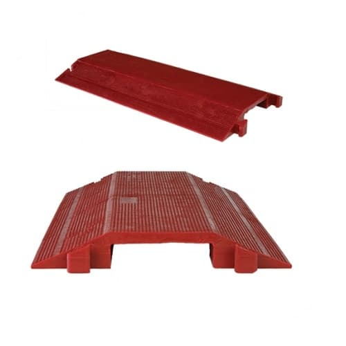Rack-A-Tiers 36-In Cord Protector, Single Channel Drop Over, 8,850 lb Capacity, Red