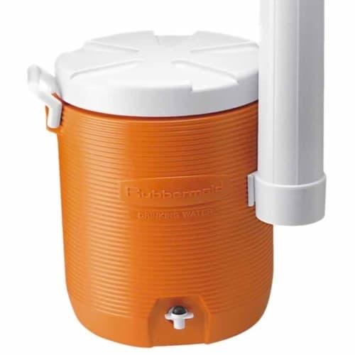 Rubbermaid 5 Gal. Water Cooler w/Cup Dispenser, Orange