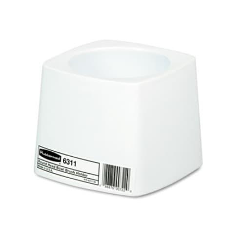 Rubbermaid White Plastic 5 in. Round Toilet Bowl Brush Holder