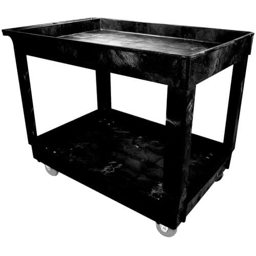 Rubbermaid 2 Shelf Utility Cart with 4'' Casters