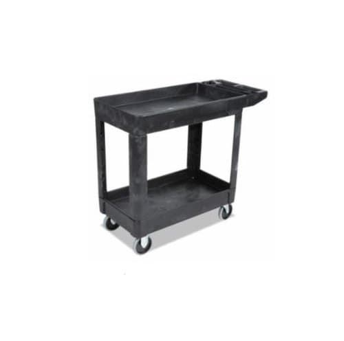 Rubbermaid Black Heavy-duty Ultility Rolling Cart Rated for 500 Pounds