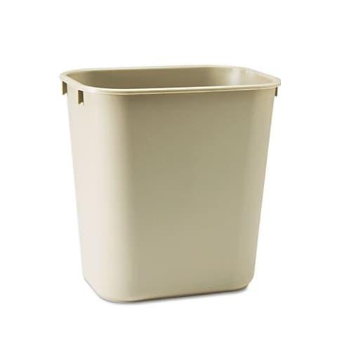 Rubbermaid 3.5 Gal. Rectangular Deskside Wastebasket, Beige