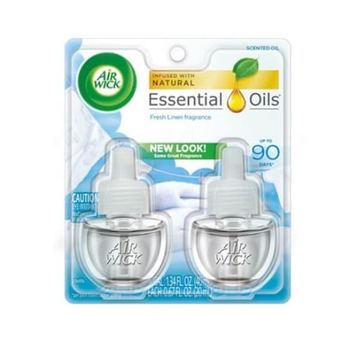 Reckitt Benckiser Cool Linen/White Lilac, Scented Oil Twin Refill- 0.71-oz