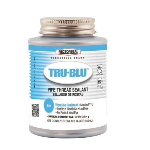 1 Qrt. Tru-Blu Pipe Thread Sealant, Blue