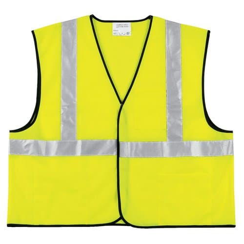 Class II Solid Poly Fluorescent Economy Lime Safety Vest