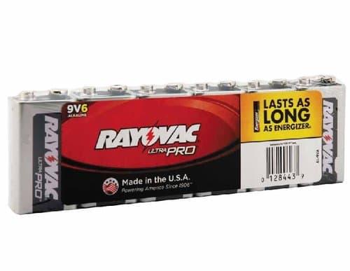 Ray-O-Vac 9V Maximum Alkaline Shrink Pack Batteries