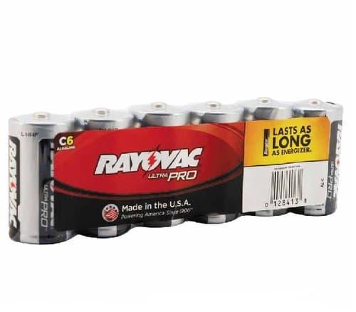 Ray-O-Vac C 1.5V Maximum Alkaline Shrink Pack Batteries